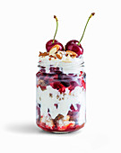 Cherry Crumble Trifle