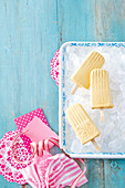 Caramel latte ice-pops