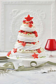Raseberry and lime meringue christmas tree