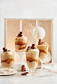 Gingerbread spiced mousse with baileys cream