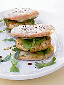 Tofu burgers with emmental and herbs