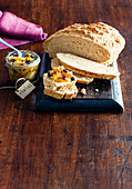 Cider soda bread with apple chutney