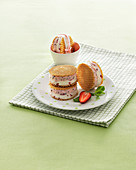 Strawberry Ice Cream Sandwich