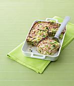 Kastaniencrepe-Lasagne mit Wirsing und Schinken
