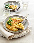 Pratahapla Walser (potato omelette from Piedmont, Italy)