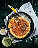 Sticky carrot tarte tatin
