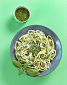 Tagliatelle with basil pesto