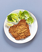 Viennese escalope with a salad garnish