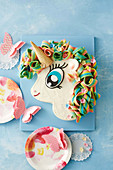 Unicorn cake for a children's party