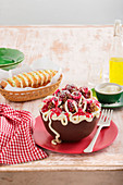 Spaghetti and Meatballs Ice-cream cake