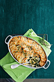 Silverbeet and potato gratin