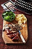 Classic steak with mushroom sauce