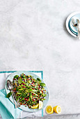 Asparagus, lemon and pecan wild rice salad