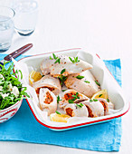 Capsicum-stuffed chicken breast