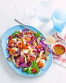 Capsicum prawns and slaw