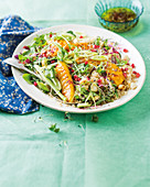 Grilled mango, quinoa and fennel salad
