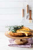 Rosemary and honey cheesecake