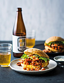 BBQ bean and chorizo sloppy joes