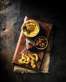 Spiced butternut chutney, Roasted butternut hummus and Continental-style roasted butternut