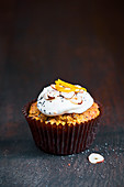 Orange, carrot and poppy seed cupcakes