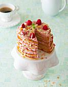 Himbeer-Pancake-Torte