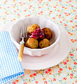 Meatballs with cranberries