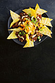 Hoisin beef with wonton nachos
