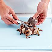 Einen Oktopus zubereiten