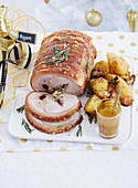 Christmas with Woman s Day - All the trimmings! - Rolled Pork with Cider Jus