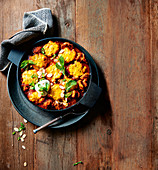 Lamb curry with chickpea dumplings