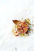 Herb garlic en papillote