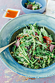 Green bean salad with asparagus
