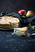 Apple and quark cake (vegan)