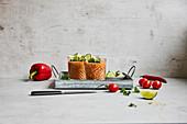 Gazpacho mit Zutaten