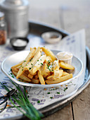 Truffle fries with chives