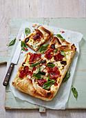 Artichoke, Prosciutto and Olive Tart