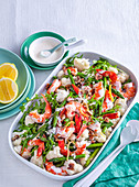 Prawn and cauliflower salad