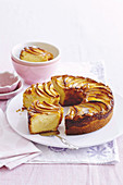 Custard and apple teacake