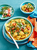 Fish and potato yellow curry