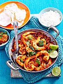 Dry-fried chilli prawns