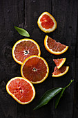Cara Cara Navel blood orange slices and pieces