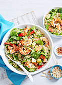 Couscous Tabouli with Prawns