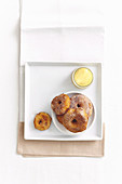 Apple doughnuts with cinnamon sugar