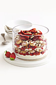 Strawberry and almond trifle