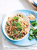Chicken and basil noodle stir-fry