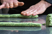 Nettle Gnocchi with Almond Butter