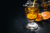Golden Dream: a cocktail with Galliano, Cointreau, cream and orange juice
