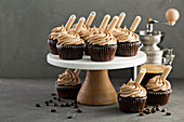 Chocolate espresso cupcakes with Irish Cream