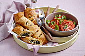 Spinach and artichoke parcels