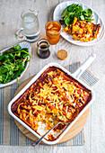 Pumpkin, pea and ricotta cannelloni